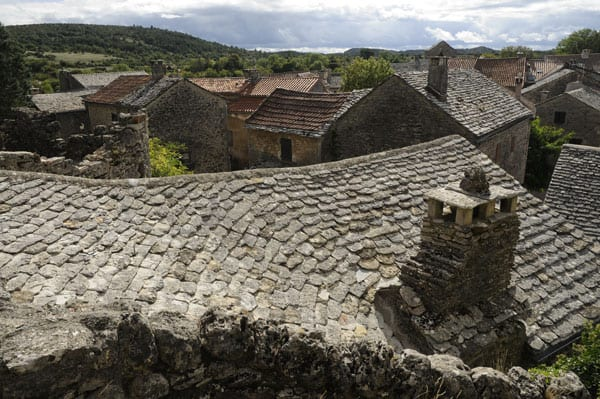 Stone roofs at La Couvertoirade