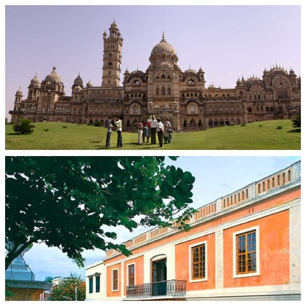 Top: The Gaekwad's palace, Below: A Pondicherry building. My travel resolutions for this year!