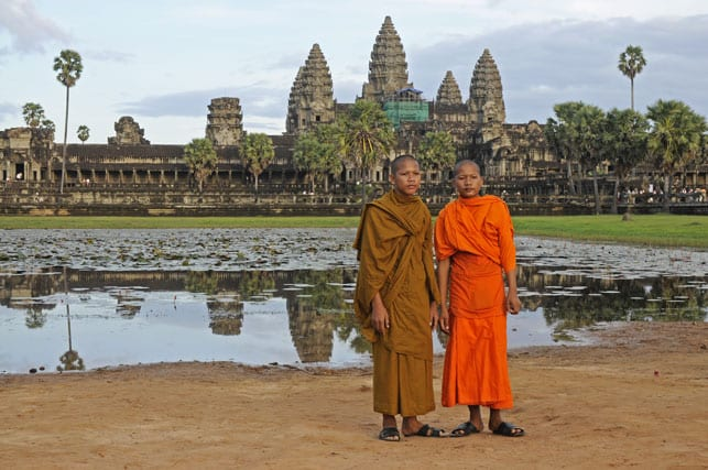 Cambodia, in front of Angkor Vat Temple