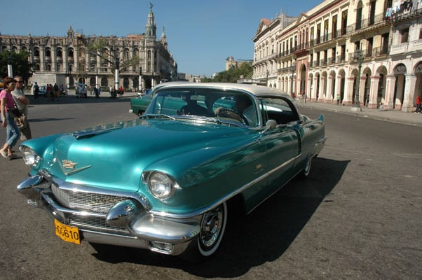 Cuba, an old American car in La Havana