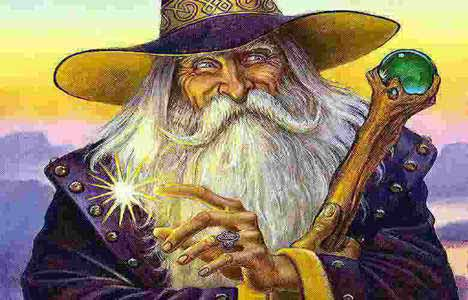 The wizard Merlin up to his tricks.
