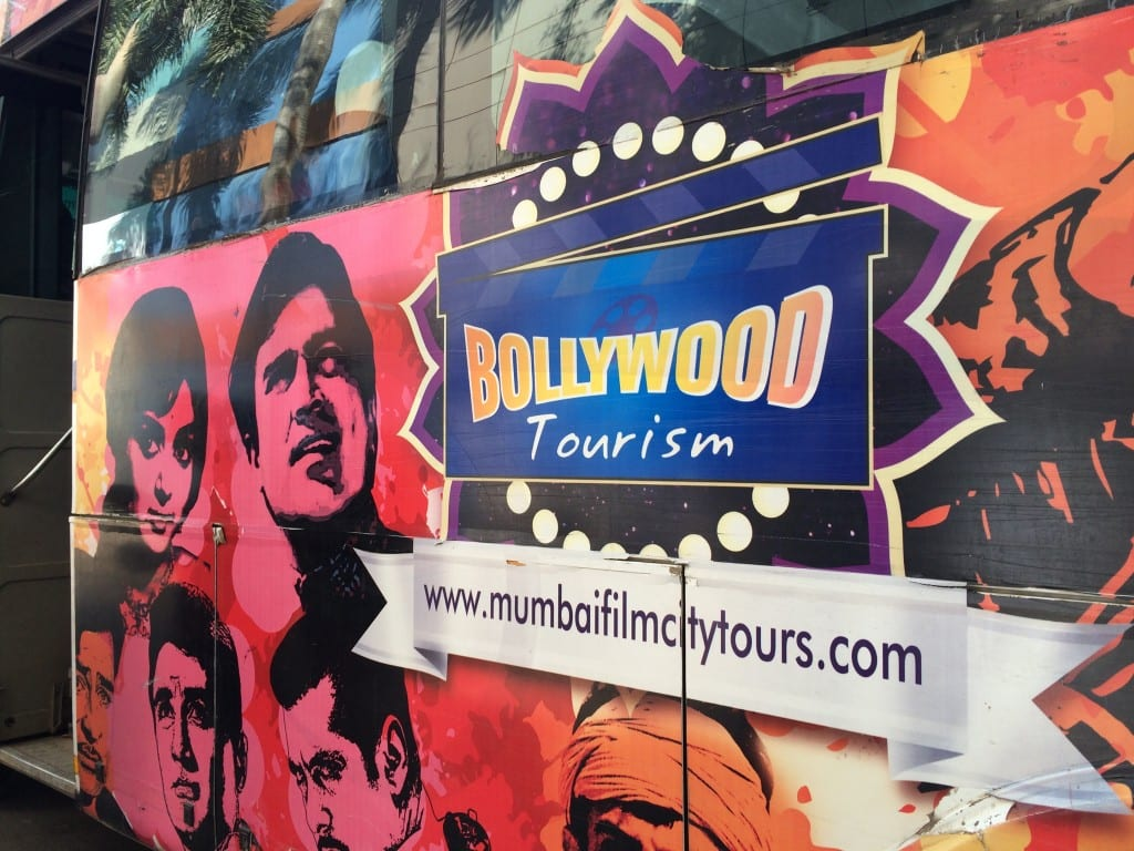 Bollywood Film city tour bus graffiti.