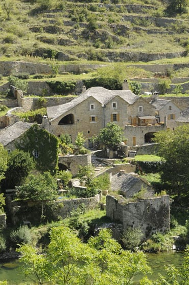 Old houses in the Gorges du Tarn
