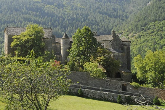 Beautiful castle in the Gorges du Tarn