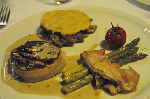 Mouth watering Tournedos at Hostellerie de Fontanges