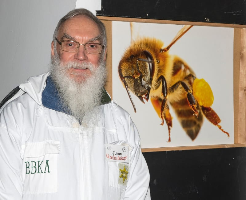 Warwickshire Beekeepers stand, BBKA, Julian Routh,