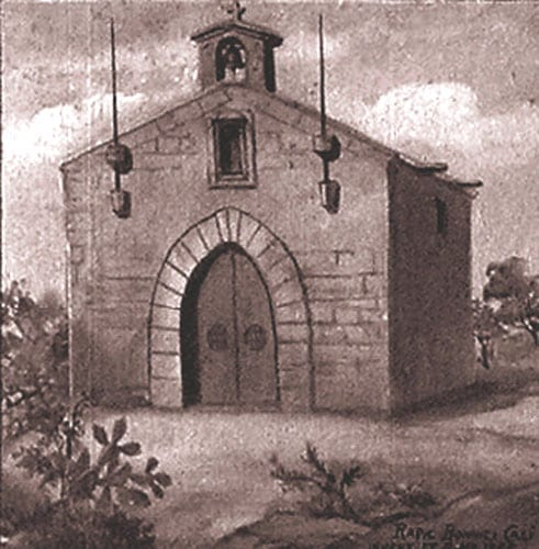 Caricature of Zabbar chapel dedicated to Our Lady of Graces.