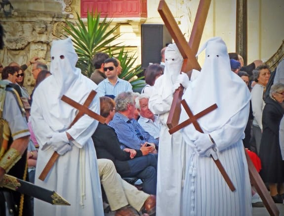 Penitents and those who have made vows.