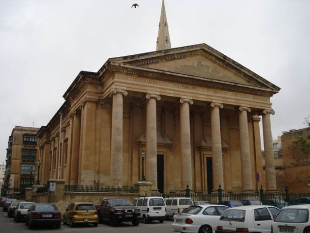 St Paul's Anglican Cathedral in Valletta.