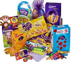 selection of Easter eggs