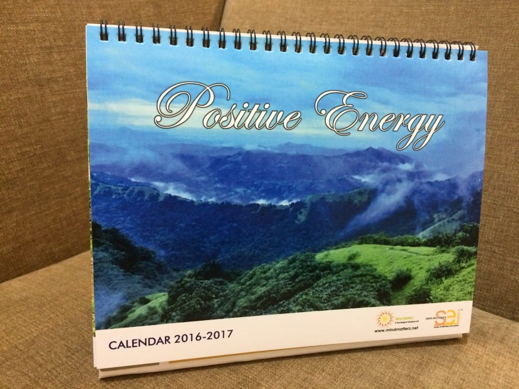 Our Inspirational Calendar titled 'Positive Energy'!