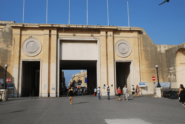 Valletta's entrance replaced by this monstrous eyesore in the 1960s.