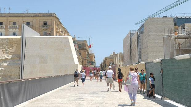 The entrance to Valletta today as designed by internationally famous architect Renzo Piano.