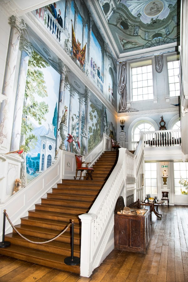 South-Staircase-hall-with-mural-by-Graham-Rust.