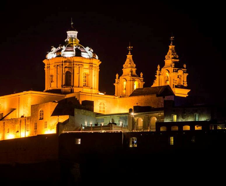 Mdina by night.