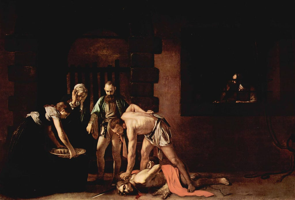 The Caravaggio painting 'The Beheading of St John'.