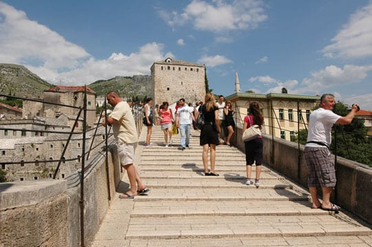 On the Mostar Bridge