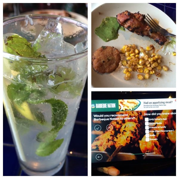 Mojito, starters & digital feedback
