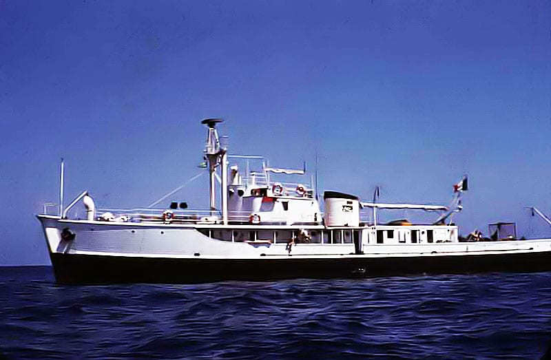 The MV Calypso purchased by Jacques Cousteau - the beginning of his long voyage to international fame.