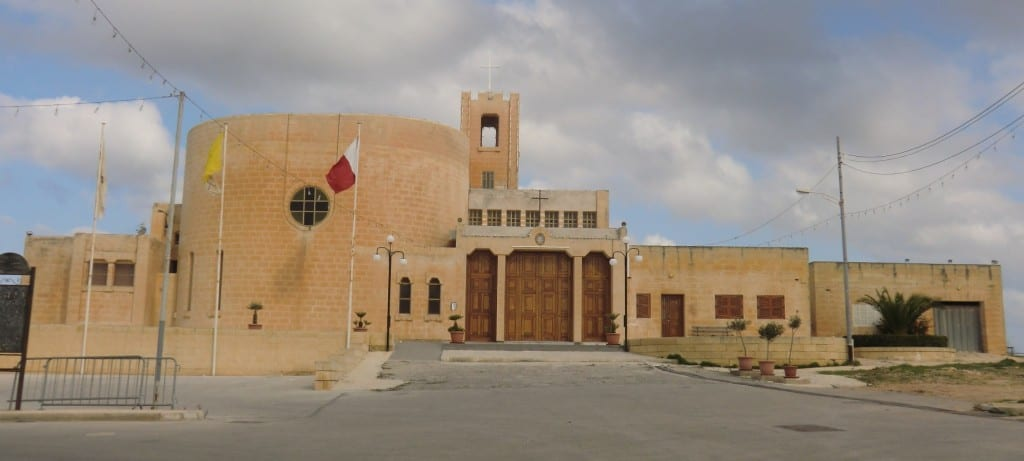 The fairly new Bahrija Church.