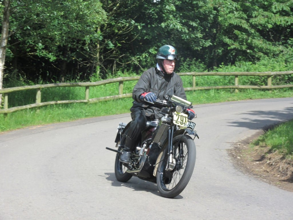 Vintage motorcycle on Banbury run