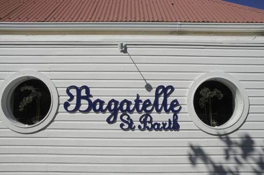 Bagatelle restaurant in Gustavia