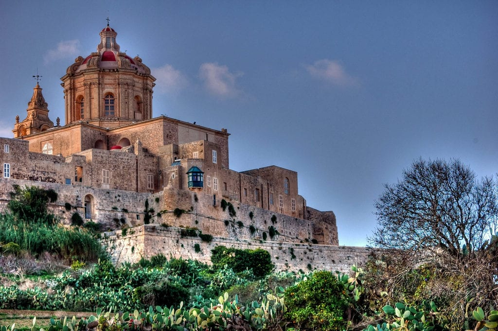 Malta's old capital city Mdina founded by the Phoenicians