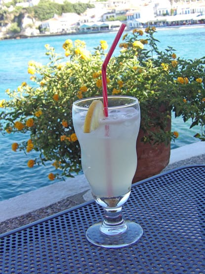 14- Refreshing authentic limonade in Kokkari