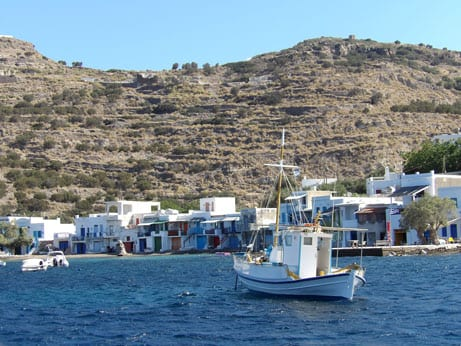 Fishermen village in Milos