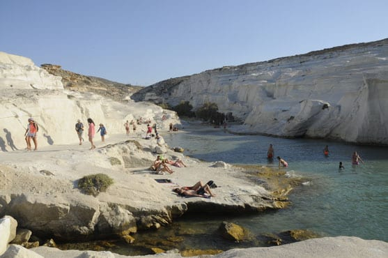 The white cove of Sarakiniko