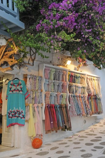 Shoppping in Mykonos