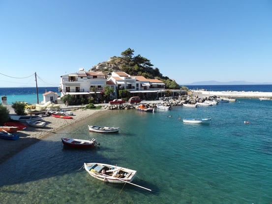 9- The little harbour of Kokkari (Samos)