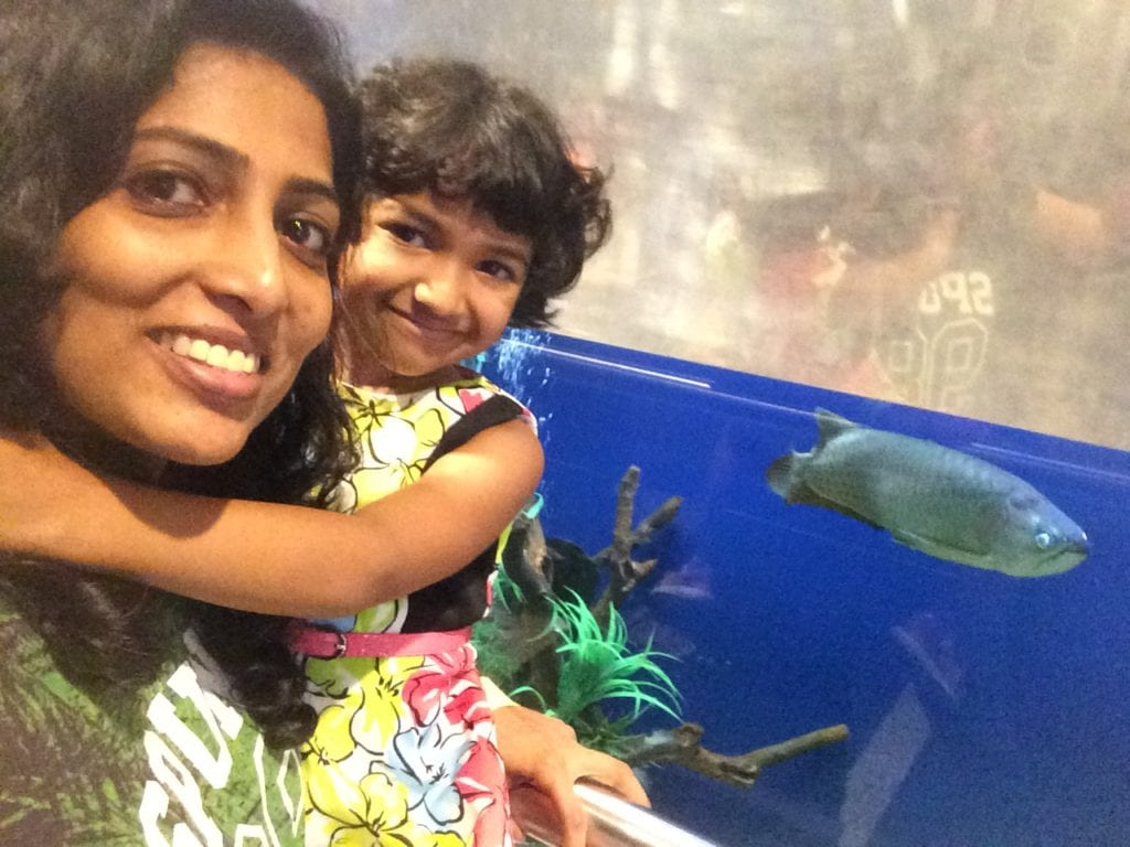Ishita & myself with the 'fishes'!