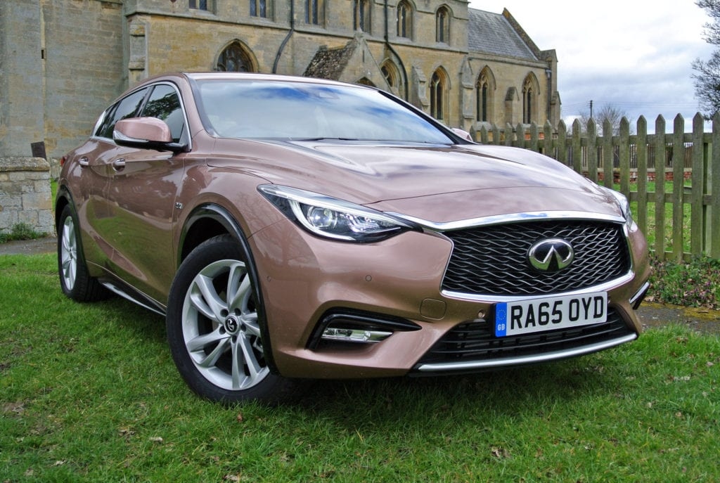 The latest Infiniti Q30, which is based on the Mercedes-Benz A-Class