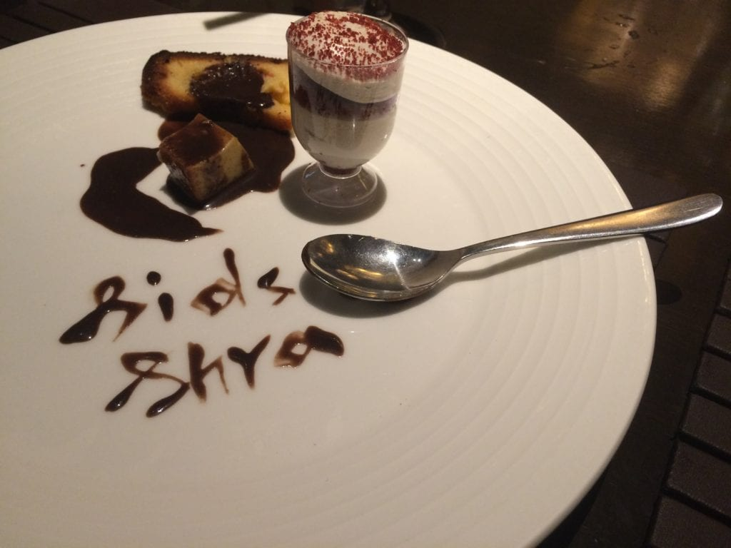 Sweet sibling memories created while having desserts.