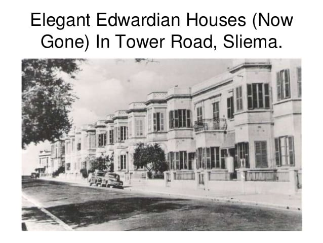 The beauty that was once Tower Road, Sliema - now sadly all gone.