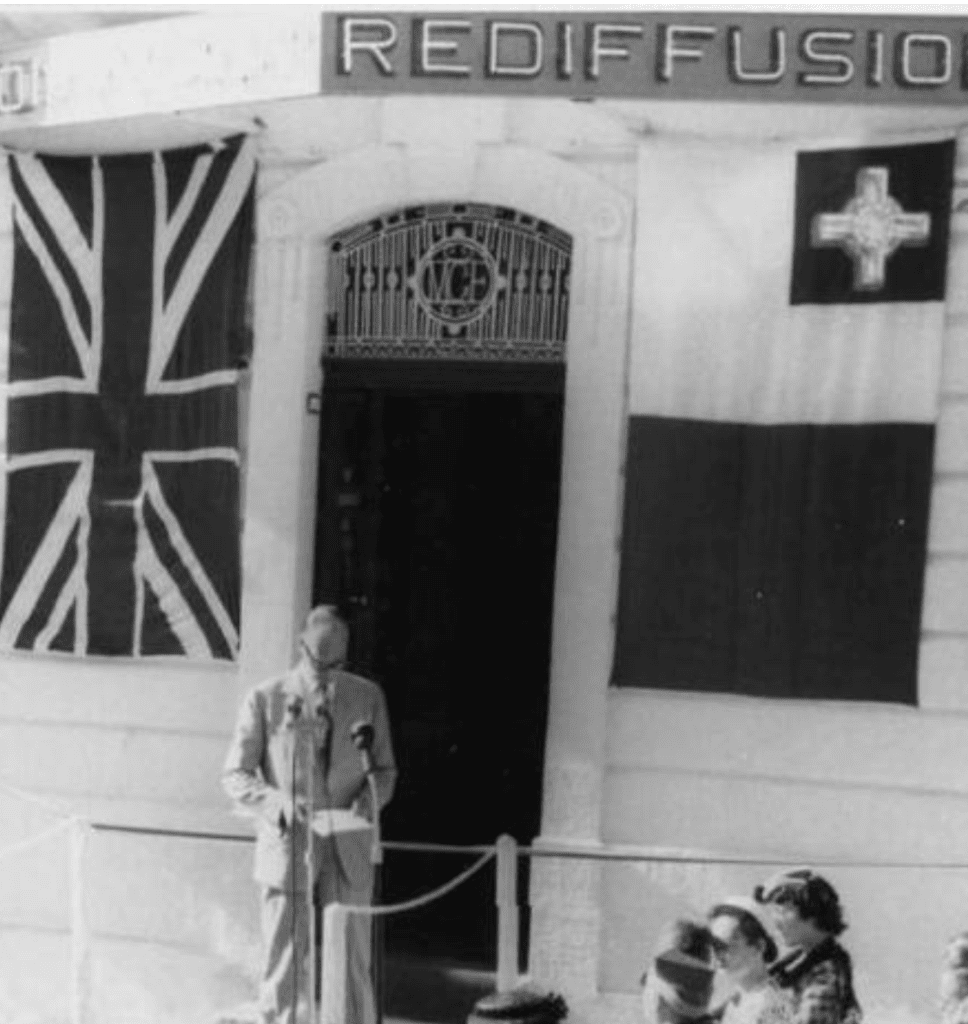 The British cable company Rediffusion continued to dictate broadcasting after Independence.