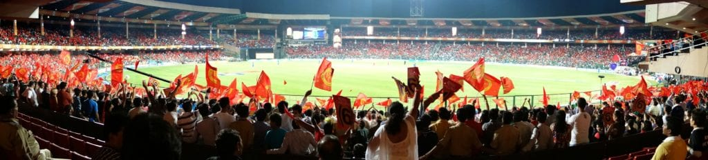 Sweeping image of the Chinnaswamy