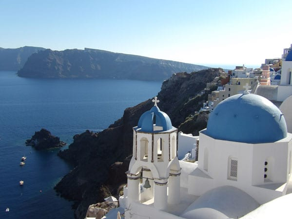 The village of Oia in Santorini