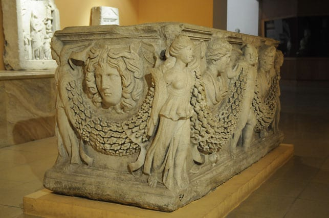 8- Unique sarcophagus, Izmir Archaeological Museum