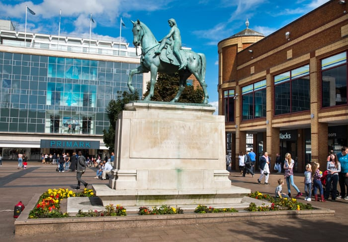 Lady Godiva statue, Coventry in-Broadgate