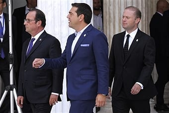 maltas-pm-attending-the-informal-mediterranean-summit-with-french-pm-francios-holland-and-greek-host-pm-alexis-tsiparas