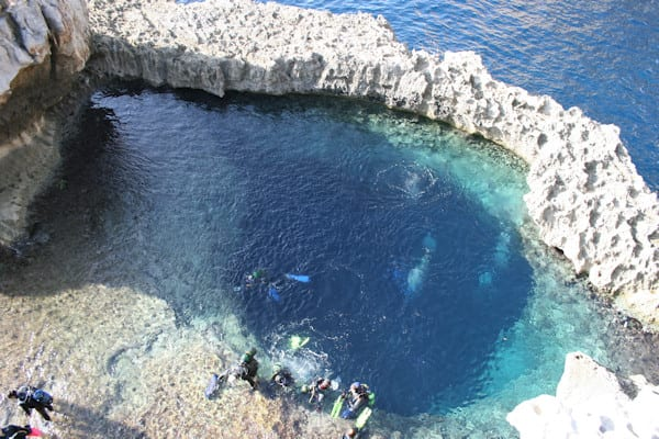 Another lesser known inland sea known as The Blue Hole, in Gozo too.