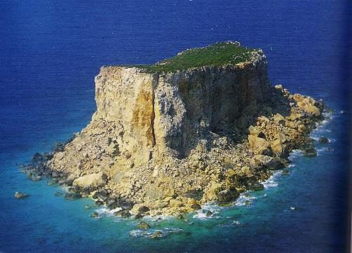 The small island of Filfla just off the Zurrieq coast.