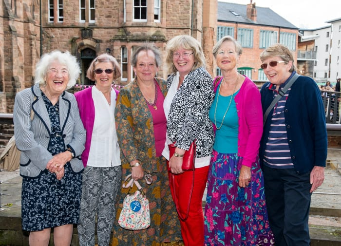 Members of Coventry Soroptimists, Heritage Open Days, who-created-a-panel-in-the-tapestry.