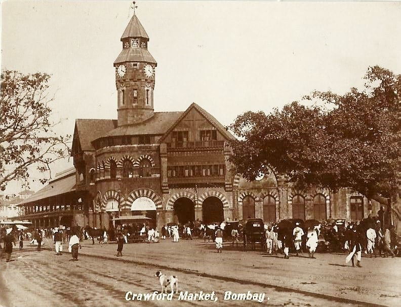 Crawford Market during the early 20th century