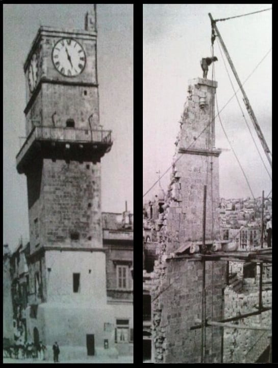 the-historic-birgu-clock-tower-destroyed-during-world-war-ii