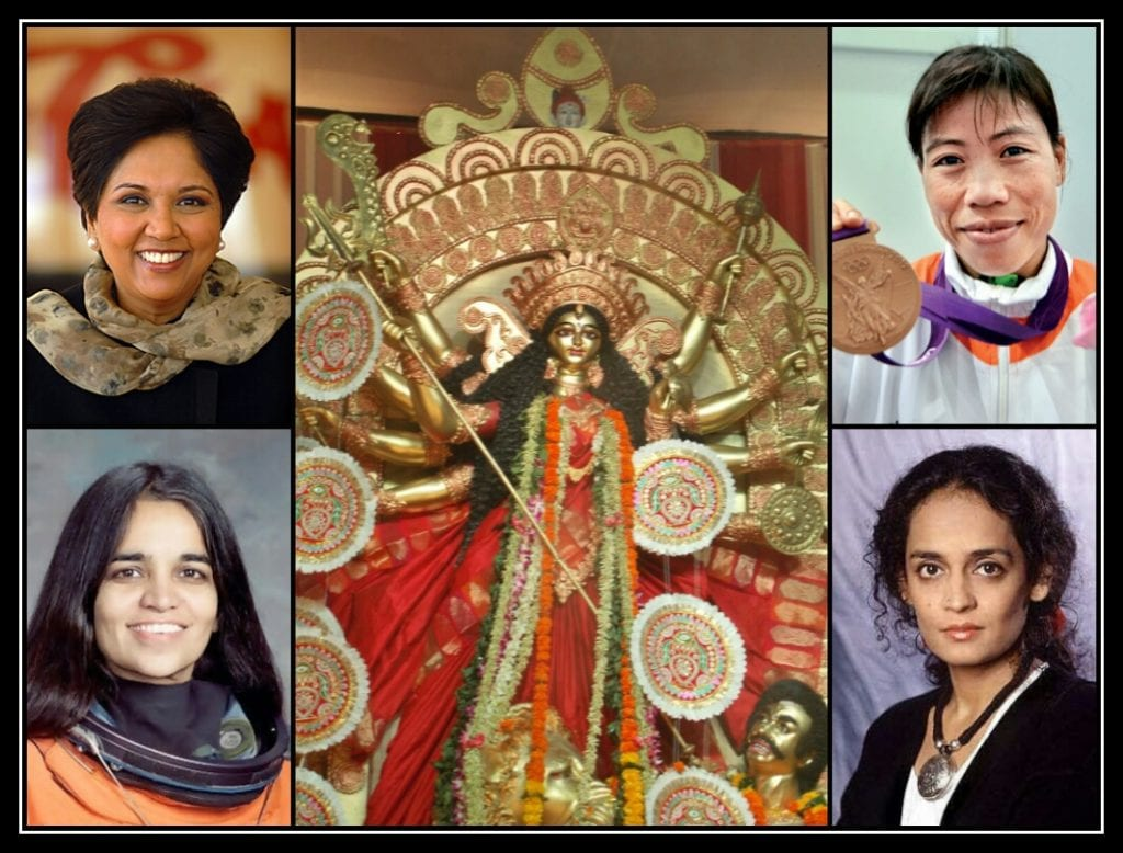Indian Women Empowerment- Indra Nooyi (Top Left), Mary Kom (Top Right), Arundati Roy (Bottom Right) and Late Kalpana Chawla
