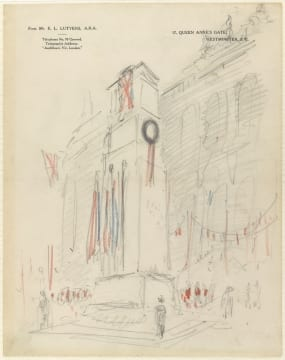 Lutyens-sketch-of-the-proposed-cenotaph