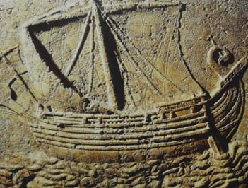 Carved-model-of-Phoenician-ship.